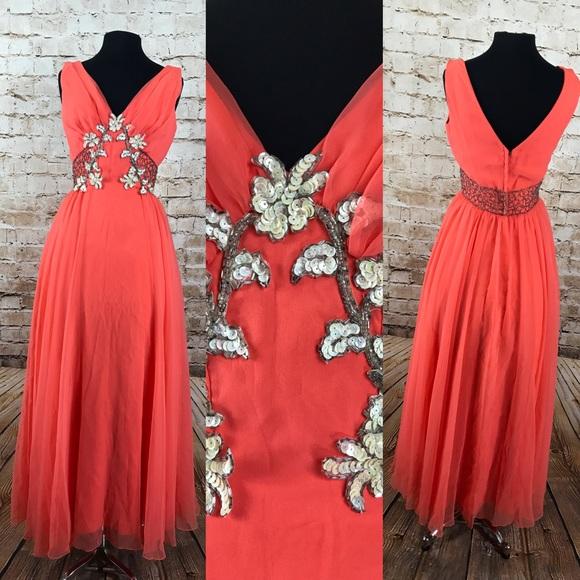 a2997d90fbeb Mike Benet Dresses | 60s Vintage Coral Formal Dress | Poshmark